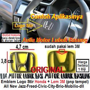 Foto Produk emblem logo stir honda all new jazz freed civic city brio mobilio dll dari Aulia Motor Lubuk Basung