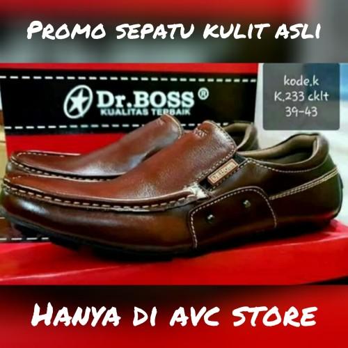 Foto Produk Sepatu Casual Kulit Asli Dr. Boss Coklat dari AVC_Store