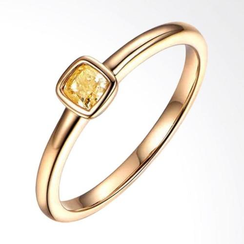 Foto Produk cincin emas imitasi dengan batu solitare dari monly store addict shop