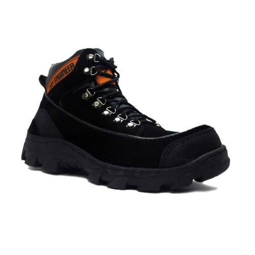 Foto Produk sepatu safety boots high quality cut engineer leather full black dari Cut Engineer