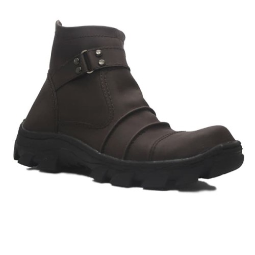 Foto Produk sepatu Safety Slip On Zipper cut engineer leather Brown dari Cut Engineer