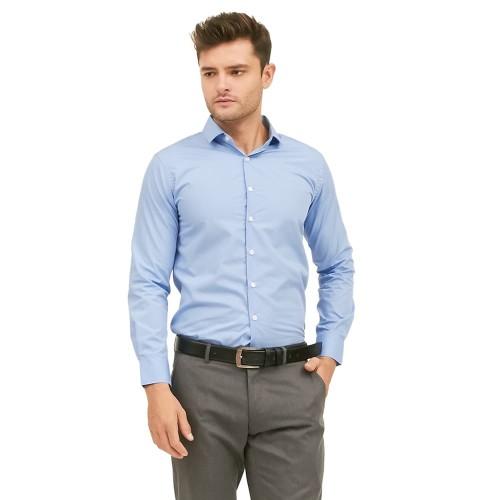 Foto Produk VM Kemeja Polos Panjang Slimfit Kemeja Formal Biru Muda - Biru Muda, XL dari VM VanMarvell