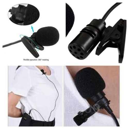Foto Produk 3,5mm microphone with clip mic on for smartphone android / mic jepit dari VILLECOMPUTER