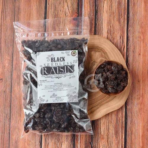 Foto Produk Black Seedless Raisins (Kismis Hitam) 250 Gr dari House Of Organix