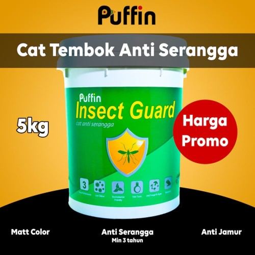 Foto Produk Cat tembok anti serangga Puffin Insectguard 5kg dari puffinpaint