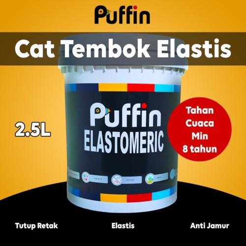 Foto Produk Cat tembok PUFFIN ELASTOMERIC exterior 2.5L tahan cuaca min 8 TAHUN dari puffinpaint