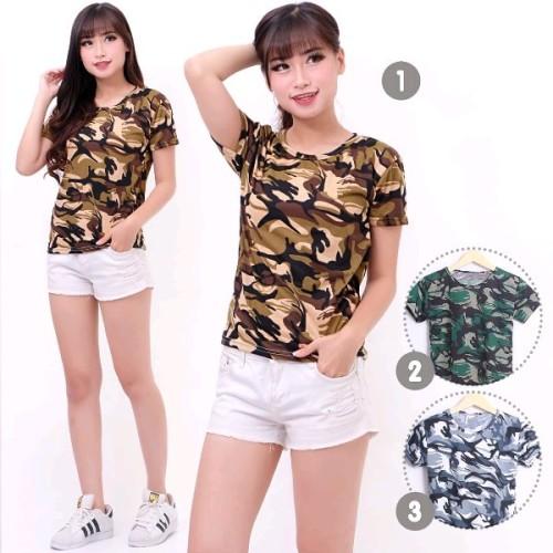 Foto Produk kaos wanita motif army loreng dari Lee Jow