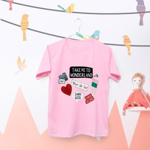 Foto Produk Tumblr Tee - T-Shirt - Kaos Wanita Lengan Pendek Take Me To Wonderland dari Lee Jow