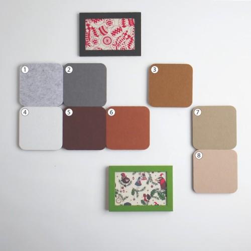 Foto Produk UCHII Squre Wall Deco Brown Set 8s Wallpaper Sticker Hanger Hook Pin dari uchii store