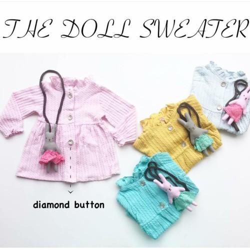 Foto Produk Jaket Swetter Bayi Perempuan Cewek free tas boneka Anak Branded baju dari tokonees