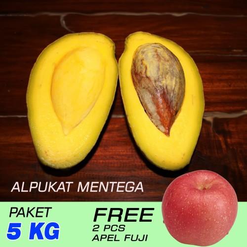 Foto Produk (Peket 5 Kg) Alpukat Mentega Reg. Free Apel Fuji 2 Pcs) dari RAJA ALPUKAT