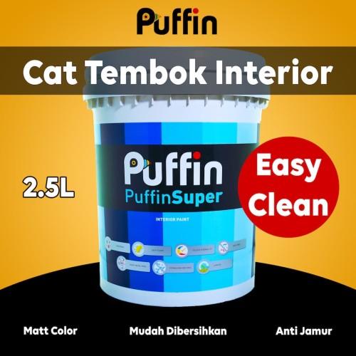 Foto Produk Cat tembok interior PUFFIN SUPER easyclean 2.5L dari puffinpaint