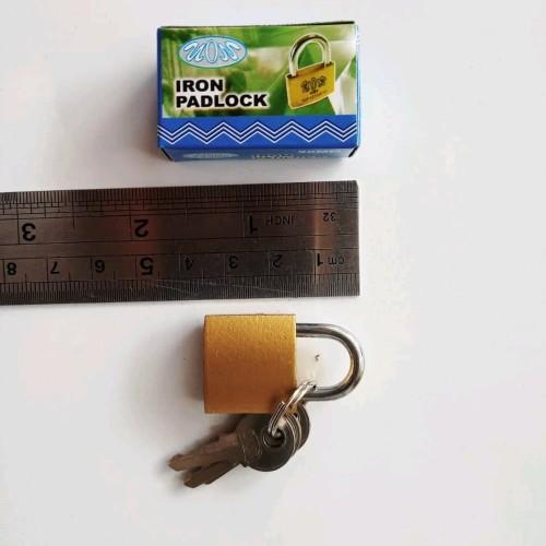 Foto Produk Gembok kuning 20mm merk Vion stok terbatas dari atmarinishop