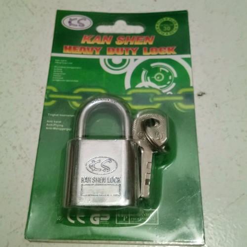 Foto Produk gembok putih kunci gembok 30mm rumah tangga dari atmarinishop