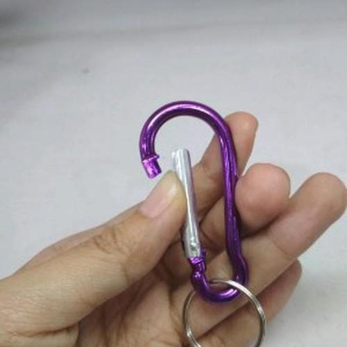 Foto Produk Ganci Gatungan Kunci Carabiner kecil Key chain Motor warna random dari atmarinishop