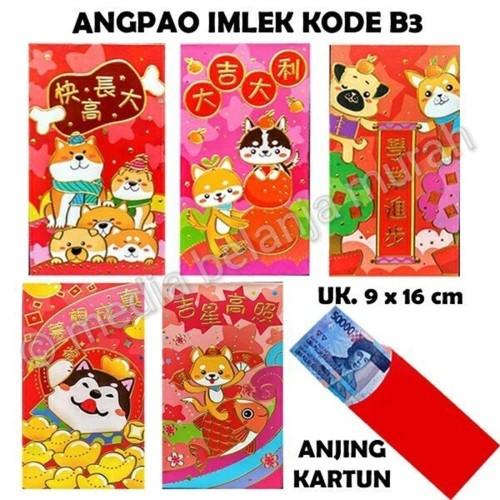Foto Produk Dijual ANGPAO IMLEK KODE B3 ANJING KARTUN AMPLOP ANGPAO TAH dari atmarinishop