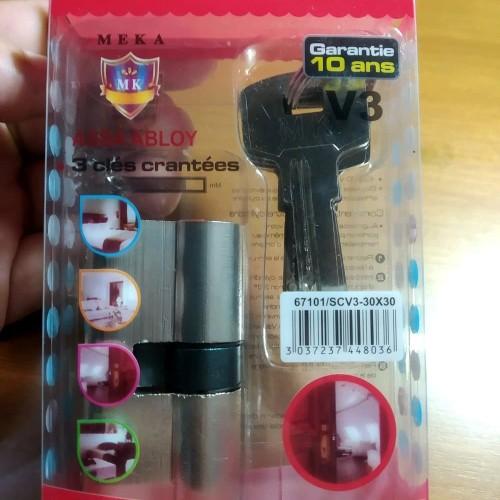 Foto Produk Silinder Kunci Pintu. Anak silinder kunci Komputer 5 key Meka ho dari atmarinishop