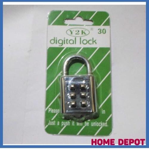 Foto Produk GEMBOK ANGKA NOMER KOPER PAKAI KODE TANPA KUNCI 30MM new item dari atmarinishop