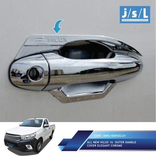 Foto Produk Toyota All New Hilux Akseoris JSL/Outer Handle Cover Elegant Chrome dari Era Otomotif