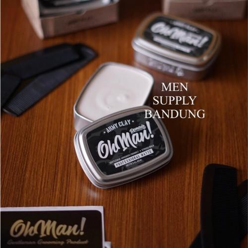 Foto Produk Pomade Oh Man Army Clay 85 Gram Professional Matte FREE SISIR dari PT. Men Supply Bandung