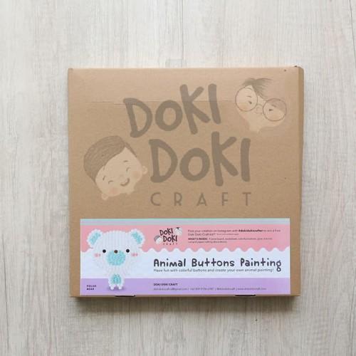 Foto Produk Animal Button Painting Craft Kit - DIY - Polar Bear Kerajinan Tangan dari Doki Doki Craft