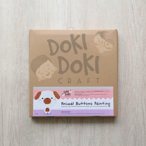 Foto Produk Animal Button Painting Craft Kit - DIY - Dog Kerajinan Tangan Anak dari Doki Doki Craft