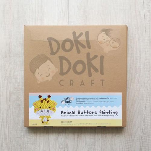 Foto Produk Animal Button Painting Craft Kit - DIY - Giraffe Kerajinan Tangan Anak dari Doki Doki Craft