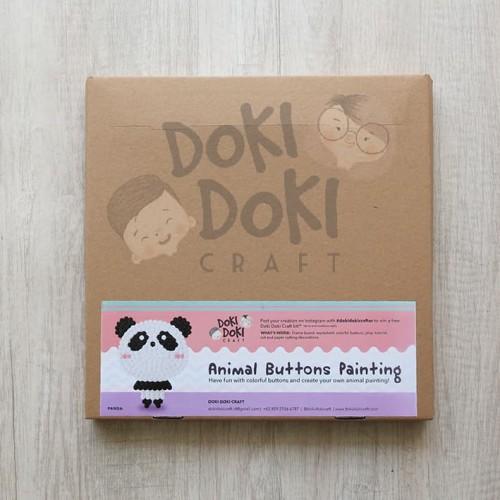 Foto Produk Animal Button Painting Craft Kit - DIY - Panda Kerajinan Tangan Anak dari Doki Doki Craft