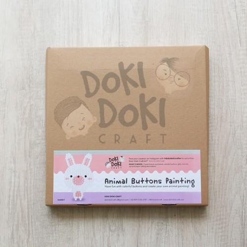 Foto Produk Animal Button Painting Craft Kit - DIY - Rabbit Kerajinan Tangan Anak dari Doki Doki Craft
