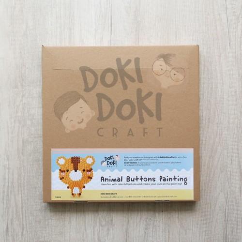 Foto Produk Animal Button Painting Craft Kit - DIY - Tiger Kerajinan Tangan Anak dari Doki Doki Craft
