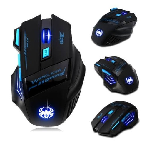 Foto Produk Buttons LED Optical Wireless Gaming Mouse For Win7/8 ME XP, 2400 DPI dari Gamming Pc Specialist