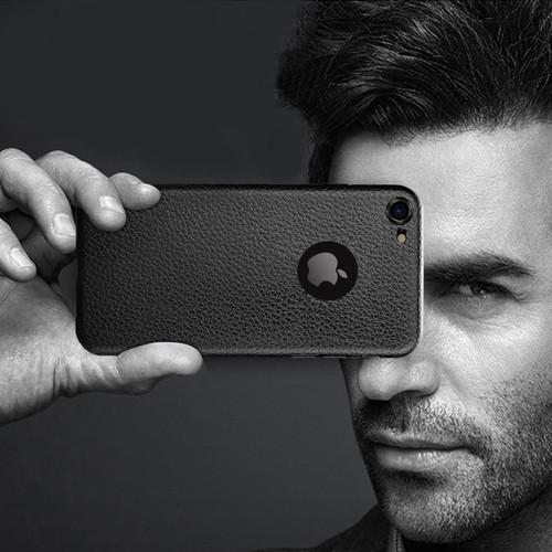 Foto Produk Luxury Lychee Soft Thin TPU Case Casing Polos iPhone X XR XS Max - XS Max, Hitam dari iShop Here