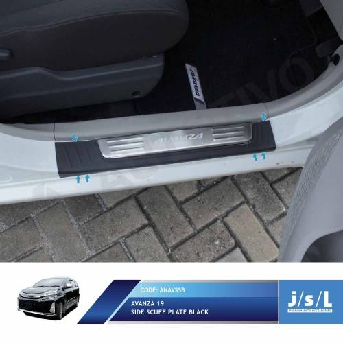 Foto Produk JSL Sillplate Samping Avanza Xenia Veloz 2019 Side Scuff Plate Black dari Autotivo