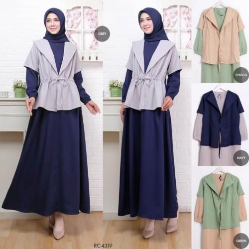 Jual Gamis Blazer String Fit To L Baju Gamis Muslim Modern Koleksi Terbaru Jakarta Timur Najwa Collection2 Tokopedia