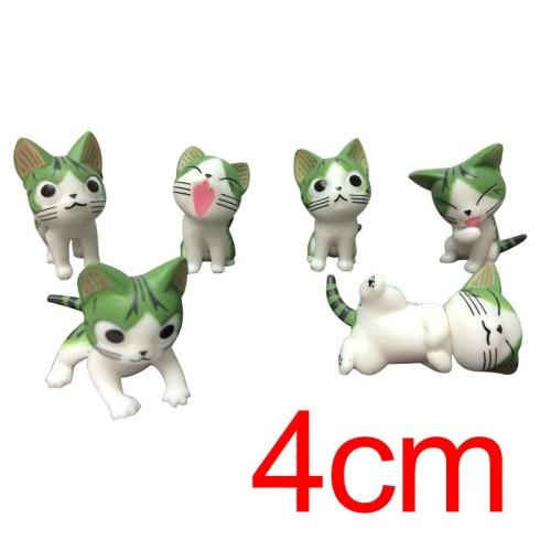 Foto Produk 6Pcs / Set Action Figure Anime Cheese Cat untuk Dekorasi dari Asa Shop Lengkap