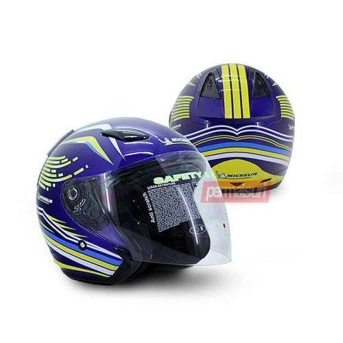 "Foto Produk Helm Half Face Michelin Size ""XL""│Helm Motor dari PERMAISURI"