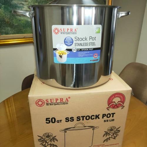 Foto Produk Stockpot stainless supra 50 qt / panci stainless 50 liter besar dari Vist Kitchen Store
