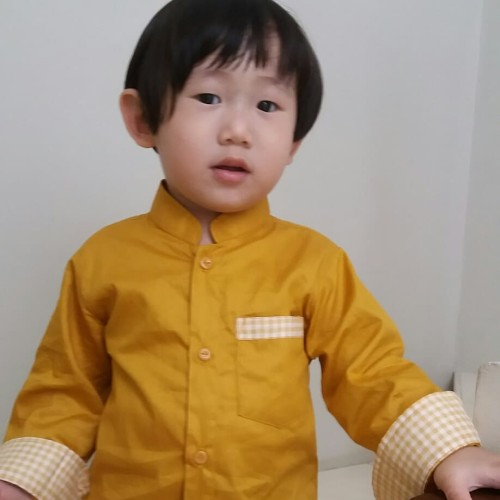 Foto Produk Kemeja Koko Anak Premium Kemko Anak Baju Koko Anak size 1 sd 5 Th - 6 - 8 Tahun, Marun dari Kemeja Anak Laki Joseon
