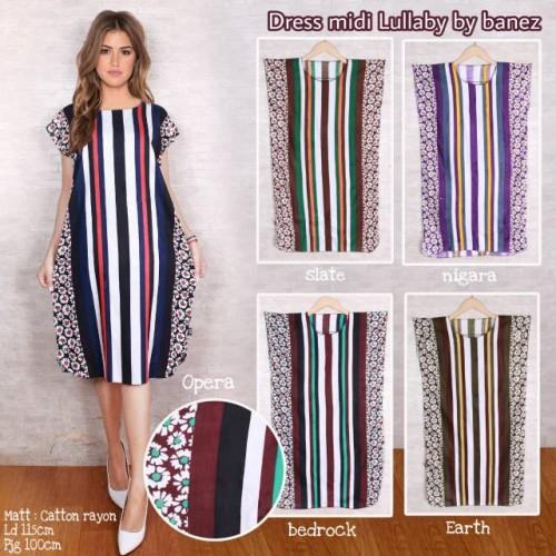 Foto Produk Trendy Dress Midi Modern Lullaby (GAK ECER KLIK 5X) dari cilistore77