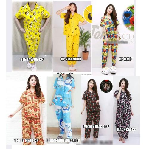 Foto Produk Terjangkau DVA Pajamas Piyama CP Sleepwear Katun Jepang dari cilistore77