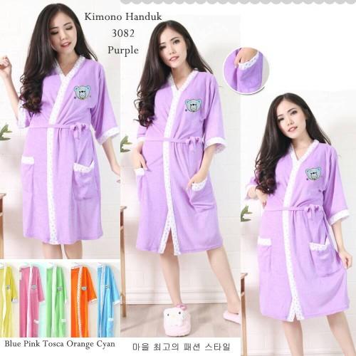Foto Produk Hemat Kimono Handuk dewasa tali bordir karakter dari cilistore77
