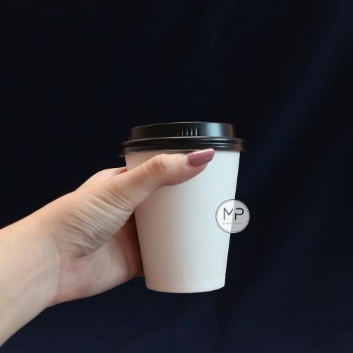 Foto Produk Paper Cup / Papercup / Gelas Kertas Kopi PUTIH 8oz DENGAN TUTUP -50pcs dari Mandiri Plastik