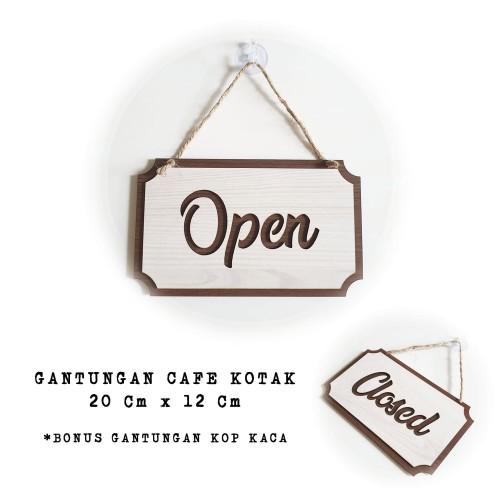 Foto Produk Gantungan Sign Cafe - Open Closed Kotak - Buka Tutup dari Nail_Your_Art