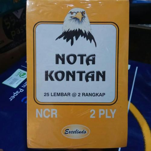 Foto Produk Nota Kontan kecil 2 ply NCR Excelindo (kelipatan 10 buku) dari Toko ABC pasar pagi lama