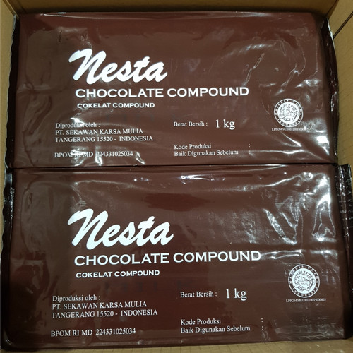 Foto Produk Coklat Blok NESTA MILK 1 KG Bukan Baking Chocolate Asia batang GROSIR dari Sinar Terang Regency