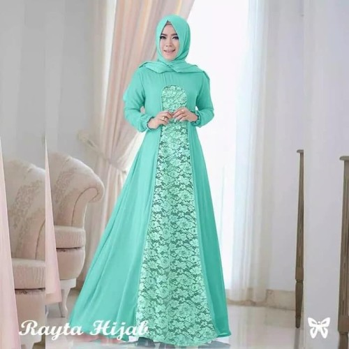 Foto Produk Paling Laris Gamis Rayta Long Dress Pesta Hijab Fashion Muslim Wanit dari Bricqie Liu