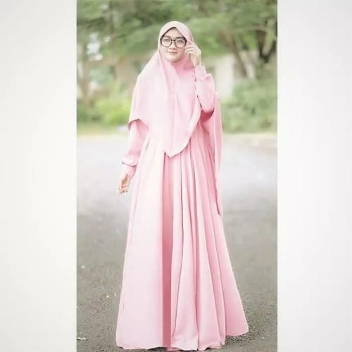 Foto Produk Paling Laris Baju Gamis Dewasa Long Dress Muslim Wanita Pinggang Karet dari Bricqie Liu