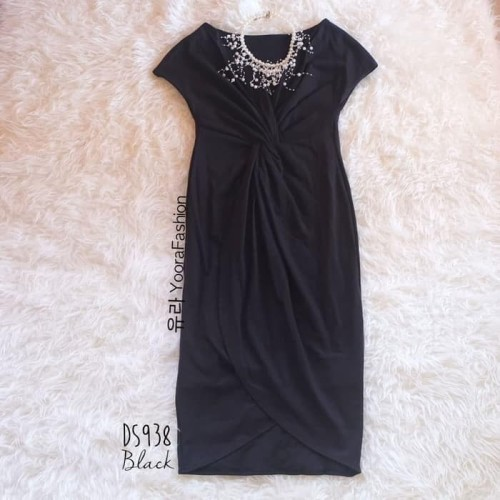 Foto Produk Paling Laku Squishy Dress Gaun Formal Pakaian Wanita Ds938 - Hitam dari Bricqie Liu