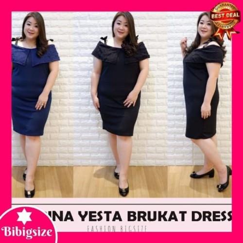 Foto Produk Terbaik Dress Jumbo Sabrina 443 - Baju Dress Jumbo 443 - Hitam dari Bricqie Liu
