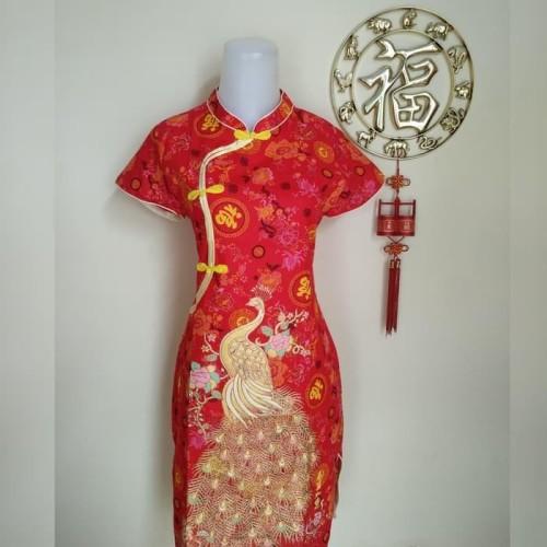 Foto Produk Paling Laris Jual Dress / Baju Cheongsam Murah (Bahan Katun) dari Bricqie Liu